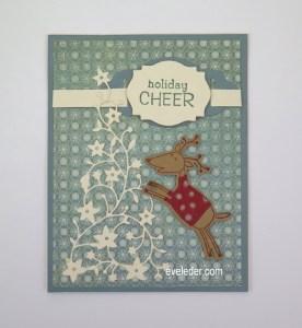 Holiday Cheer Reindeer Card--Free Card Making Tutorial