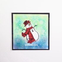 Ombre Background Snowman Card