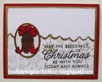 Pine Cone Christmas Card--Free Card Making Tutorial