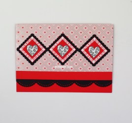 Valentine's Day Card Three Hearts