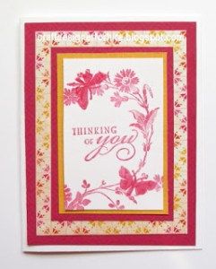 Hot Pink Butterfly Card--Free Tutorial