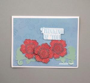 Orange Flower Card--Thinking of You--Free Card Making Tutorial