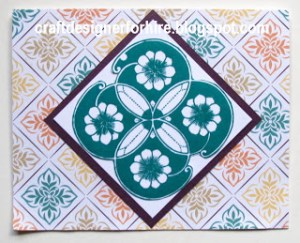 Four Flower Block Card--free card making project