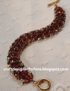 Flat Spiral Beaded Bracelet
