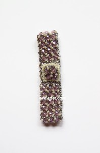 Embellished Right Angle Weave Beaded Bracelet--a great DIY Gift