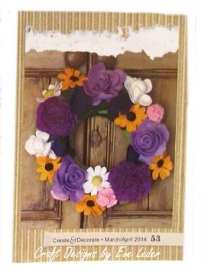 Felt Flower Wreath to Make