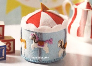 Carousel Pincushion made from felt