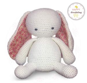 Crochet White Bunny Rabbit--free crochet pattern