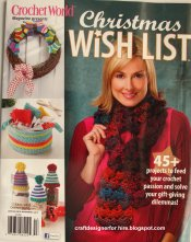 Crochet World Magazine cover Fall 2015--Christmas Wish List--Amigurumi Snowman pattern