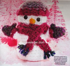 Crochet Amigurumi Snowman Ornament