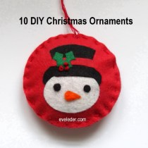 10 DIY Christmas Ornaments--Snowman