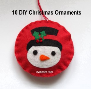 10 DIY Christmas Ornaments — Snowman