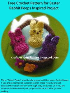 Crochet Rabbit Peeps--Free to subscriber crochet rabbit peeps pattern