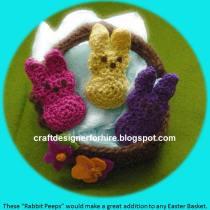 Crochet Rabbit Peeps--Free to subscriber crochet rabbit peep tutorial