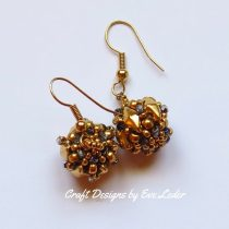 Beaded Bead Earring--A FREE beading tutorial on how to transform a beaded bead into an eye-catching earring. Four earring options provided.