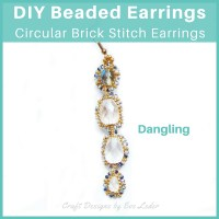 DIY Beaded Brick Stitch Earrings — Create a look that suits you--demure to dramatic.