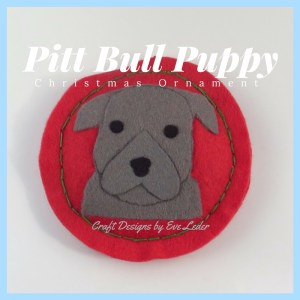 Pit Bull Puppy Christmas Ornaments--Learn about the Christmas ornament series inspired by dogs and about the design process.