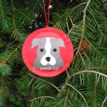 Pit Bull Puppy Christmas Ornaments