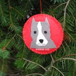 Pit Bull Puppy Christmas Ornaments--Clipped ear dog