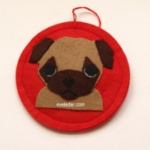 Pug Puppy Christmas Ornaments