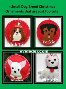 super cute dog ornaments--diy-christmas-ornaments-made-from-felt-four-small-dog-ornaments-that-are-just-too-cute-not-to-make-it-on-a-gift-wish-list