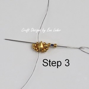 Two-Hole Bead Ring Pattern--Free beading tutorial. (Step 3 )