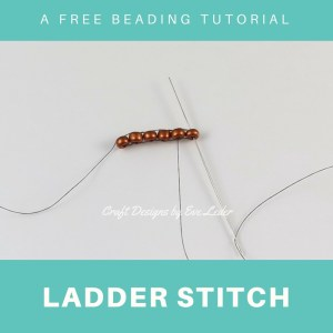 Ladder Stitch Tutorial —FREE beading tutorial with step-by-step photos. It is used as the foundation row for other stitches, such as the brick stitch.