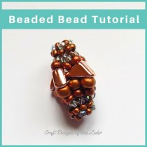 Two-Hole Tango Bead-Beaded Bead — FREE Beading Tutorial — Learn how to make a beaded bead using the two-hole tango bead.
