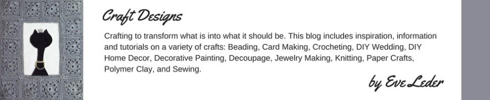 Craft Designs by Eve Leder--Header Logo