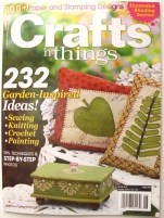 Tuscan Candleholder-- June 2010 issue of Crafts 'n things cover