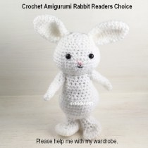 Holiday Crochet Amigurumi Rabbit--this is a new series called Readers' Choice. You are invited to contribute to the design process.