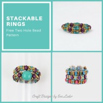 Two-Hole Bead Ladder Stitch Ring Tutorial — FREE beading tutorial to make stackable rings