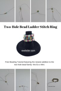Two-Hole Bead Ladder Stitch Tutorial