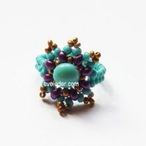 FREE Two Hole Bead Ring Pattern--featuring the 2-hole Candy bead and the 2-hole Es-o mini