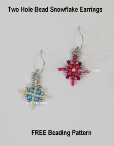 Two Hole Bead Snowflake: Free Beading Tutorial