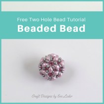 Two-hole Es-O Mini Beaded Bead — FREE tutorial on a two-hole beaded bead. You'll learn how to make this using the two-needle right angle weave stitch.