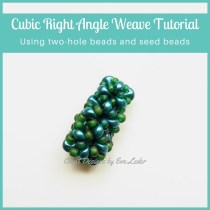 2-Hole Beads Cubic Right Angle Weave — FREE beading tutorial. Learn the cubic right angle weave stitch using the two-hole Es-o Mini beads and seed beads.