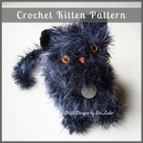 Crochet Kitten —Free crochet pattern for adorable and furry kitten.