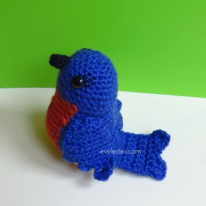 Crochet Bluebird--FREE crochet pattern for the bluebird of happiness.