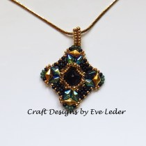DiamonDuo Bead Pendant--FREE beading pattern featuring the two-hole DiamonDuo Bead.