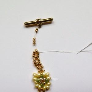 Two Hole Bead Bracelet--FREE beaded bracelet pattern--Fig. 11