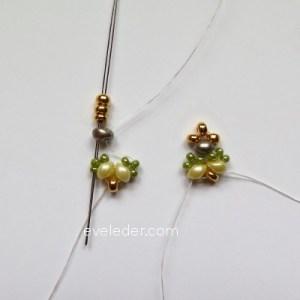 Two Hole Bead Bracelet--FREE beaded bracelet pattern--Fig. 7