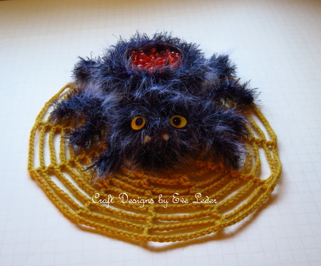 Crochet Spider & Web Halloween Decoration--FREE crochet patterns to make this friendly spider and web.