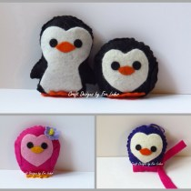 Penguin Softies--FREE patterns for crafting for a cause. A project you can do with kids for kids.