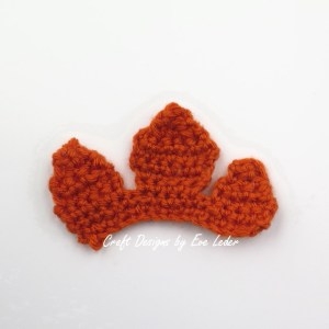 Crochet Leaf Bowl--FREE Fall DIY Decor--short half leaf