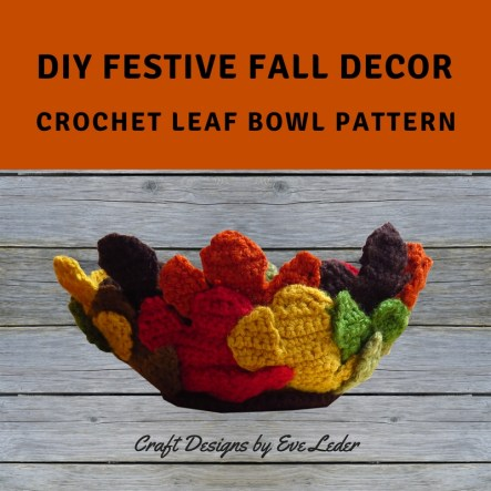 Crochet Leaf Bowl--FREE crochet pattern to make this festive fall decor