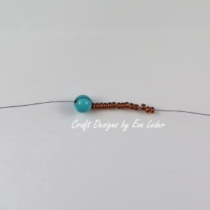 Peyote Stitch Toggle Bar --Free Beading tutorial--Fig. 2