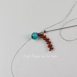 Peyote Stitch Toggle Bar --Free Beading tutorial--Fig. 4