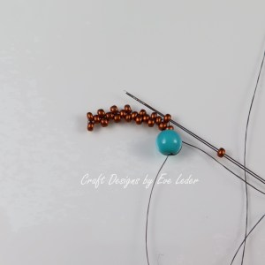 Peyote Stitch Toggle Bar --Free Beading tutorial--Fig. 5