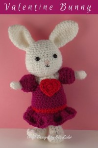 Valentine Bunny -- FREE crochet pattern for adorable bunny in a pink dress.